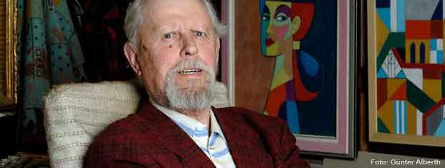 Erwin Kaysersberg in seinem Atelier, 2009